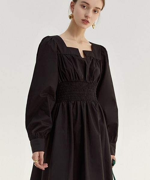 【Fano Studios】【2021SS】Key neck waist gather dress FC21L058