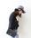 MODE ROBE(モードローブ)の「ベロア黒リボン ウール中折れハット 帽子 ウールハット(ハット)」|ライトグレー