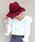 MODE ROBE(モードローブ)の「ベロア黒リボン ウール中折れハット 帽子 ウールハット(ハット)」|ワインレッド