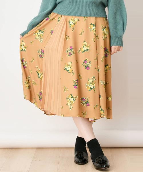 【ar/CanCam掲載】クラシカルブーケパッチプリーツスカート
