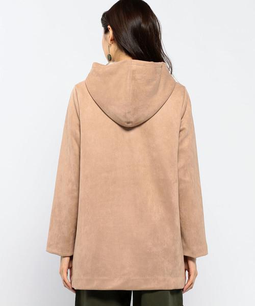 スエードフードジャケット