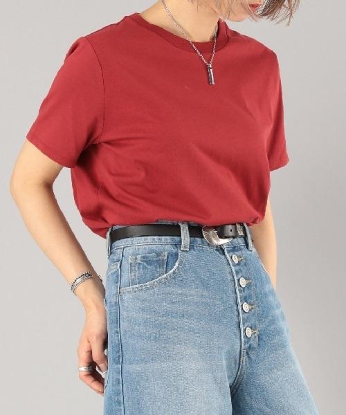 トルココットンクルーネックTシャツ