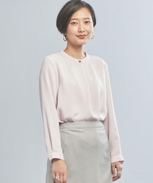 【WORK TRIP OUTFITS】★WTO Pジョーゼット スタンド ブラウス