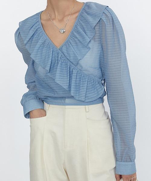 【Fano Studios】【2021SS】Short Shear frilled blouse FC21S073
