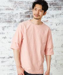 MORGAN HOMME(モルガンオム)のレイヤースリーブT/ビッグシルエット(Tシャツ/カットソー)
