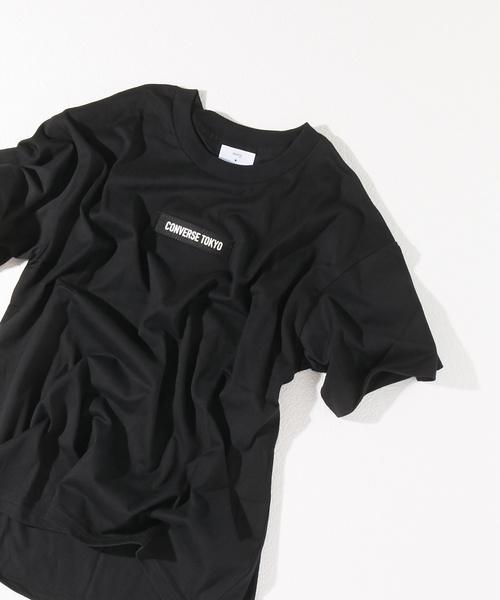 CONVERSE TOKYO(コンバーストウキョウ)の「CONVERSEテープTシャツ(Tシャツ/カットソー)」 ブラック