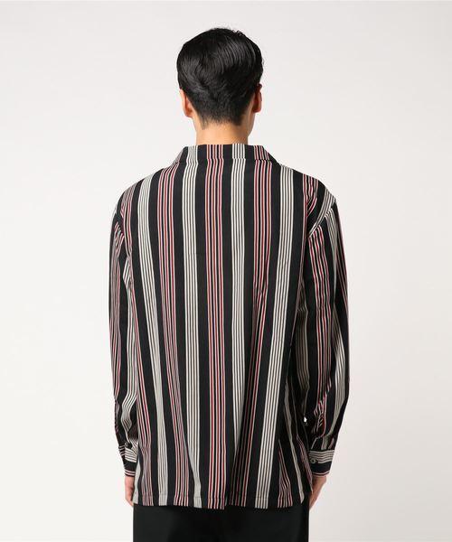 【BURNER SELECT】ランダムストライプオープンカラーシャツ