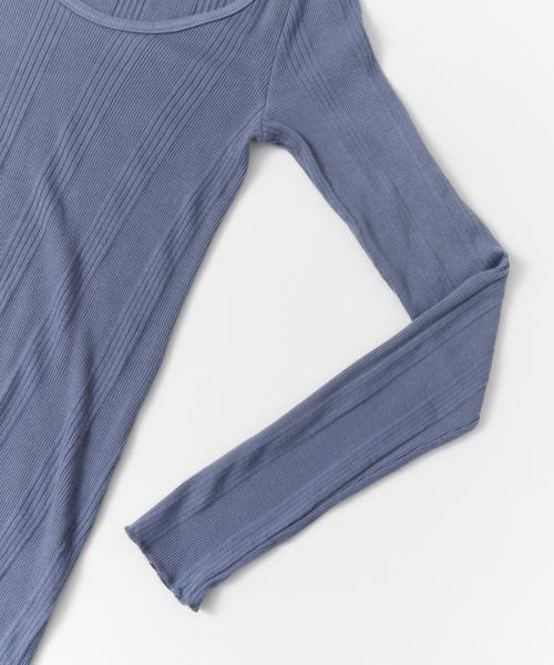 MILFOIL 別注random rib long t-shirts