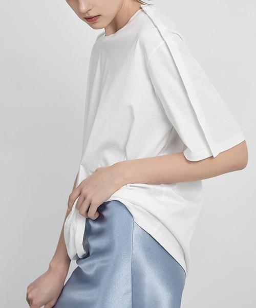 【chuclla】【2021/SS】Design sleeve T-shirt chw1437
