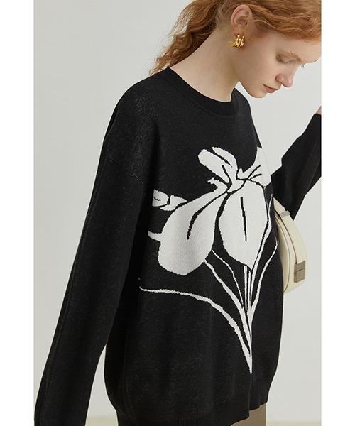 【Fano Studios】【2021AW】Foral jacquard crew neck sweater FQ21S071