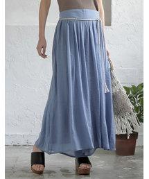 Re:EDIT(リエディ)のリラックスマキシスカート風ロングパンツ(パンツ)