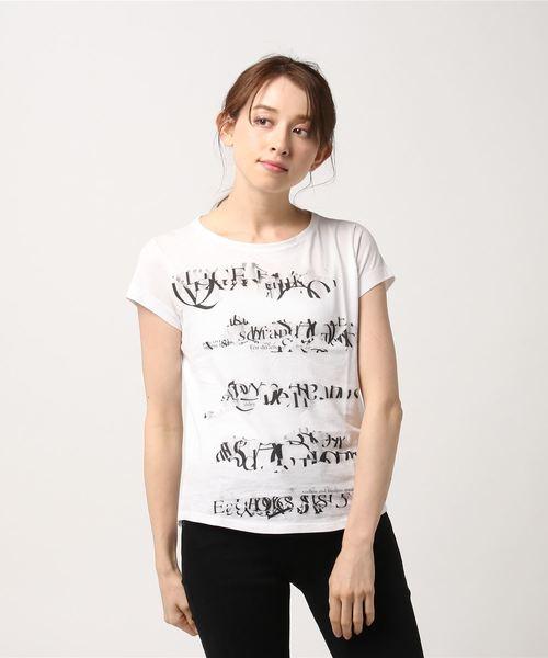 コットン型押し半袖Tシャツ・カットソー