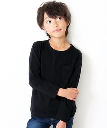 devirock(デビロック)のパックT★クルーネック無地長袖Tシャツ(Tシャツ/カットソー)