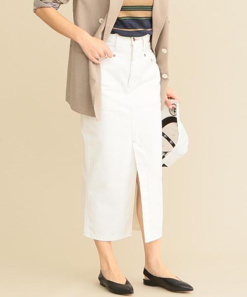 Wrangler(ラングラー)の「【別注】<Wrangler>∴タイトスカート/ホワイト(スカート)」|ホワイト
