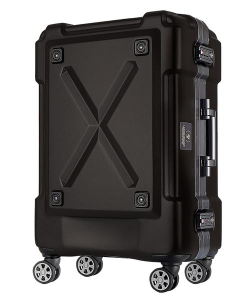 【雑誌掲載】背面収納機能付き/大型ダブルキャスター 5~7泊用 フレームキャリーケース