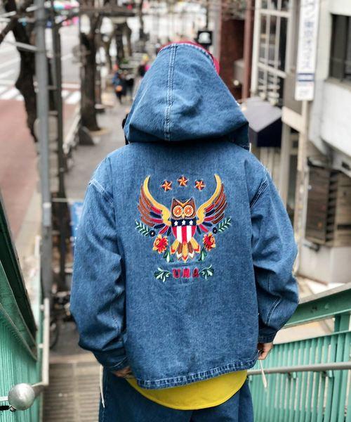 Owl Denim Parka / アウルデニムパーカー