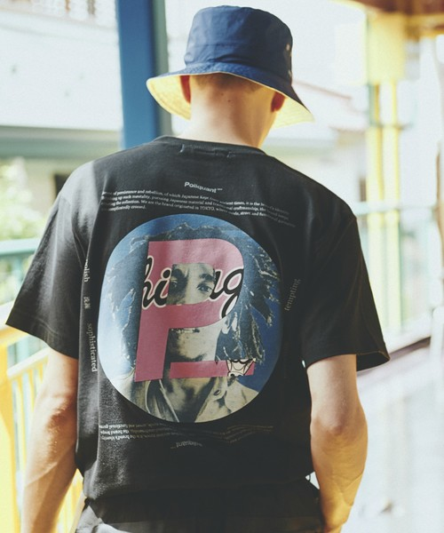 POLIQUANT The Big 'P' Circle s/s TEE made in JAPAN