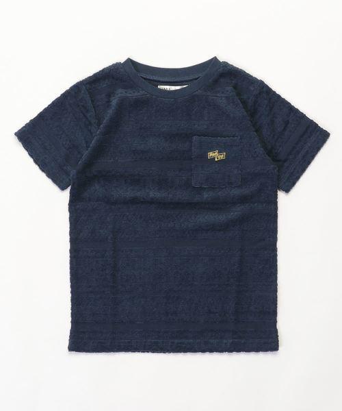 【キッズ】パイルジャガードポケ付Tシャツ(120~160cm)