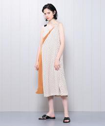 <muller of yoshiokubo>DOTS LAYER DRESS/ワンピース