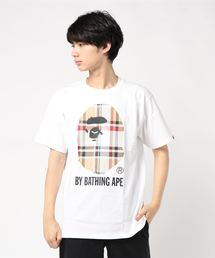 BAPE CHECK BY BATHING TEE M(Tシャツ/カットソー)
