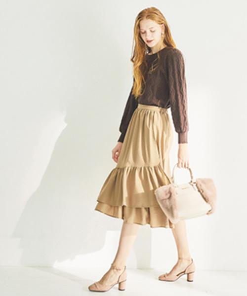 スソフリルラップスカート