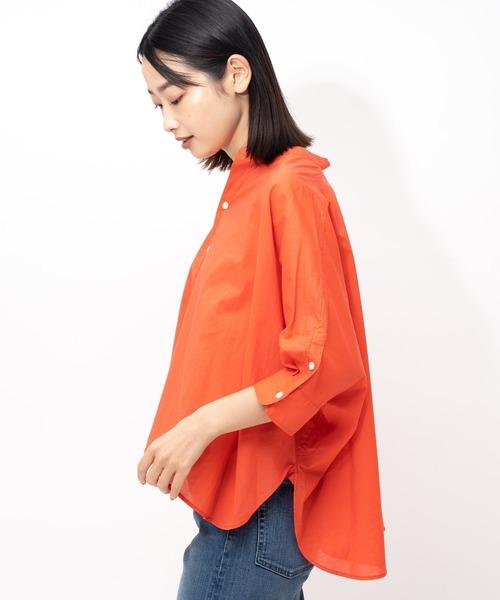 ∴【GRANDMA MAMA DAUGHTER / グランママドーター】スタンドカラーケープシャツ GS2012611