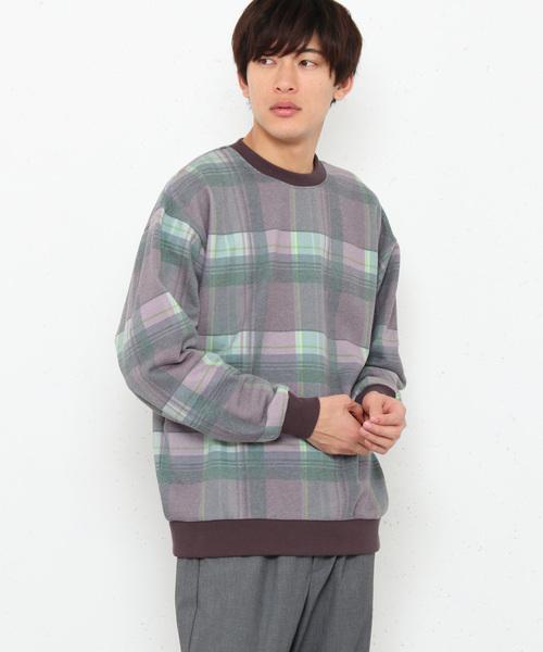 チェックスウェットシャツ