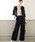 GeeRA(ジーラ)の「360度ラクに伸びる!5種の機能付パンツスーツ(セットアップ)」|ブラック