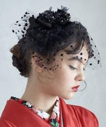 ふりふ(フリフ)の小花チュールヘッドドレス(和装小物)