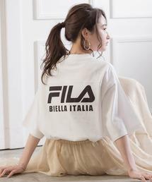 FILA/フィラ フロント&バックロゴ ビッグシルエットフットボール半袖Tシャツホワイト