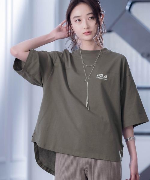 FILA/フィラ フロント&バックロゴ ビッグシルエットフットボール半袖Tシャツ