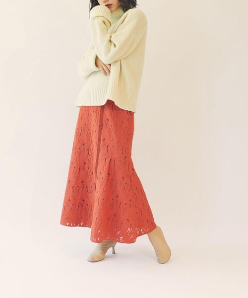 【EMMEL REFINES】EM 切り替えデザイン 2WAY レーススカート