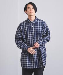 <EN ROUTE(アンルート)>コットンチェック オーバーサイズシャツ