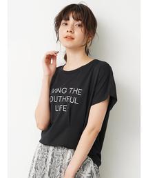 Editt by YECCA VECCA(エディット バイ イエッカベッカ)のタックデザインロゴTee(Tシャツ/カットソー)