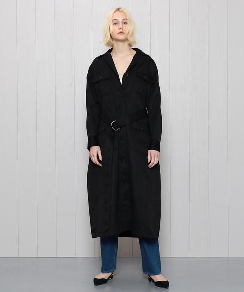<H>SAFARI MAXI DRESS/ワンピース