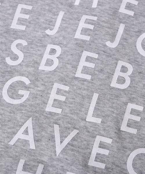 BeBe/バック切替スムースロゴTシャツ