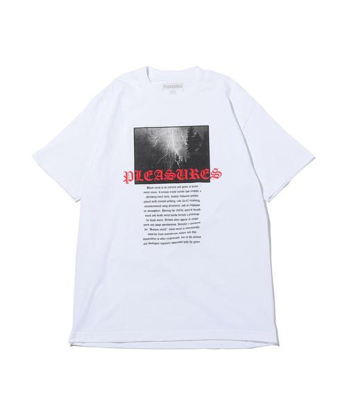 <PLEASURES> BLACK METAL T/Tシャツ