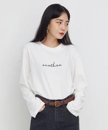 UNE MANSION(ユヌマンション)のanother ワンポイントロゴロンT(Tシャツ/カットソー)