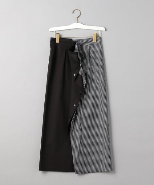 <MM6 Maison Margiela>ハーフストライプスカートΨ