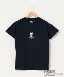 【PEANUTS/ピーナッツ】 スヌーピー ユニセックスデザイン リラクシングシルエット キャラクター半袖プリントTシャツ プレゼントにも最適アイテム!ネイビー