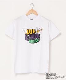 【PEANUTS/ピーナッツ】 スヌーピー ユニセックスデザイン リラクシングシルエット キャラクター半袖プリントTシャツ プレゼントにも最適アイテム!ホワイト