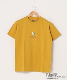 【PEANUTS/ピーナッツ】 スヌーピー ユニセックスデザイン リラクシングシルエット キャラクター半袖プリントTシャツ プレゼントにも最適アイテム!マスタード