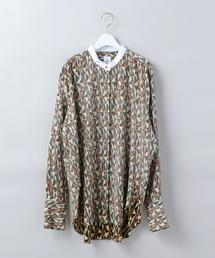 <6(ROKU)>DIAMOND PRINT SHIRT/シャツ
