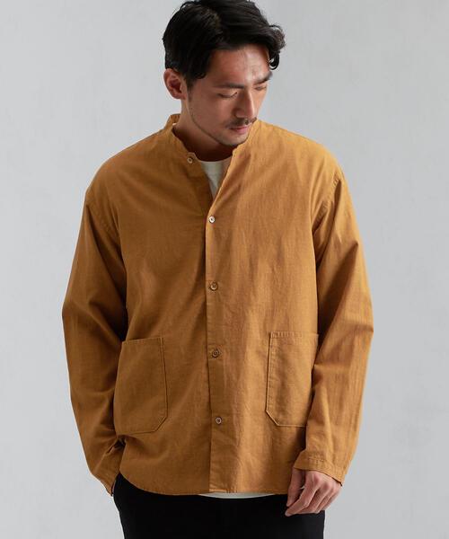 SC パナマシャンブレー マオカラー LS シャツ
