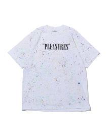 <PLEASURES> LOGO SPECKLE T/Tシャツ