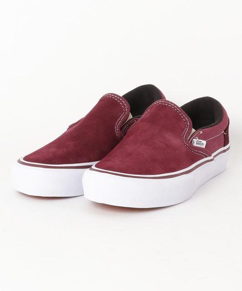 vans slip on skate shoe burgundy