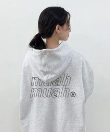 muahmuah(ムーアムーア)の『muah muah/ムーアムーア』POINT LOGO OVERFIT HOODIE/ポイントロゴ オーバーフィットフーディー プルオーバーパーカー(パーカー)