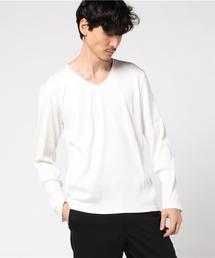 MORGAN HOMME(モルガンオム)のテレコVロングカットソー(Tシャツ/カットソー)