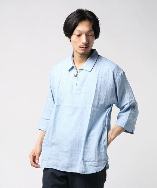 スキッパーゆるシャツ