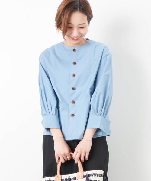6232d324511 セール】LC/LLL クルーネックボタンシャツ(シャツ/ブラウス)|LUCA ...